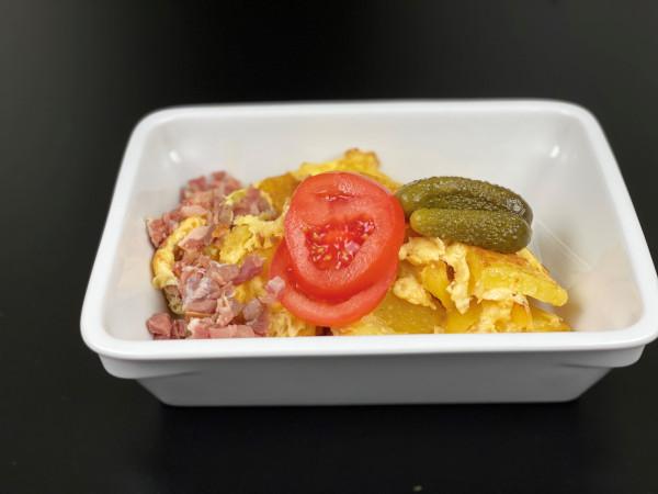 Bauernfrühstück - Bratkartoffeln, Rührei & Schinken